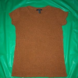 FOREVER21 Orange/Brown Blouse with 3/4 Sid…
